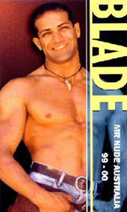 Blade Melbourne stripper and Mr nude Australia 1999 and 2000.